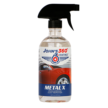 John's 360° Coatings Metal X Iron and Brake Dust Remover John's 360° Application