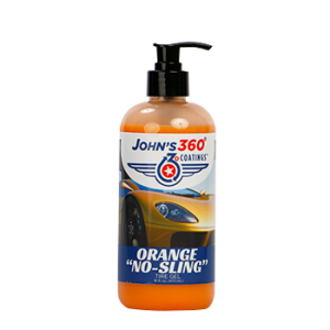 "John's 360° Coatings Orange ""No Sling"" Tire Gel John's 360° Application"